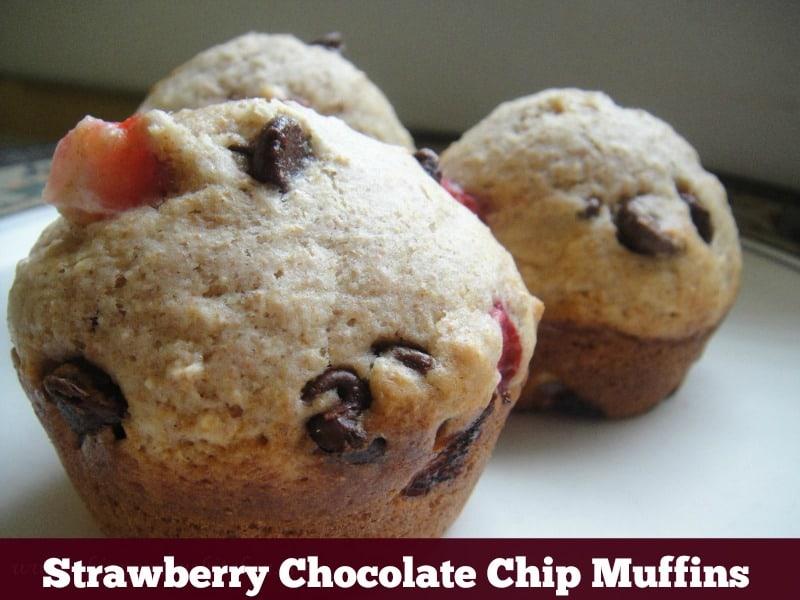 Strawberry Chocolate Chip Muffin Recipe