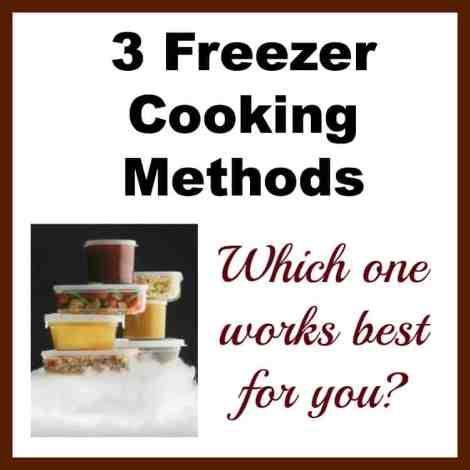 Freezer cooking methods