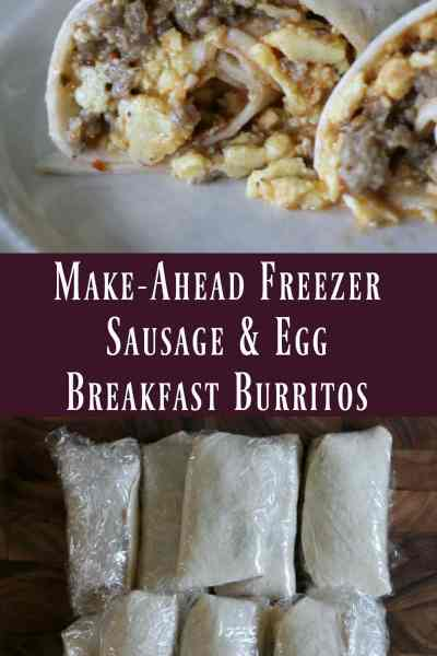 Freezer Meal: Sausage and Egg Breakfast Burritos