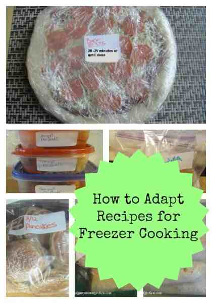 How to Adapt Recipes to Freezer Cooking