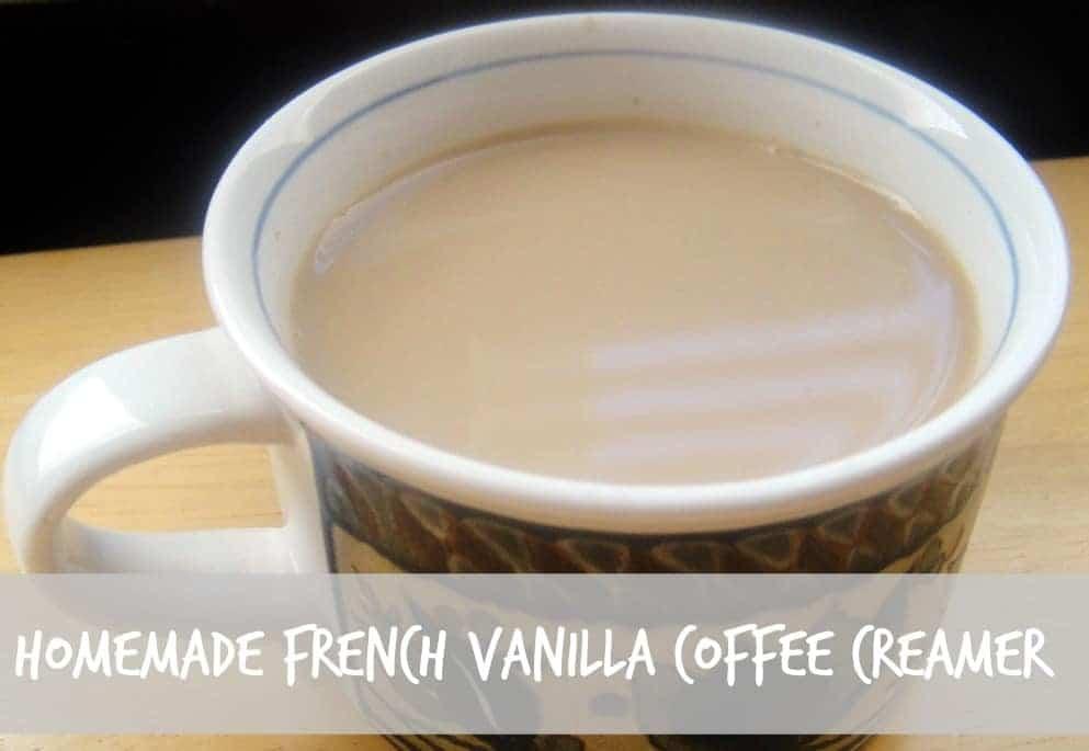 Homemade French Vanilla Coffee Creamer Recipe