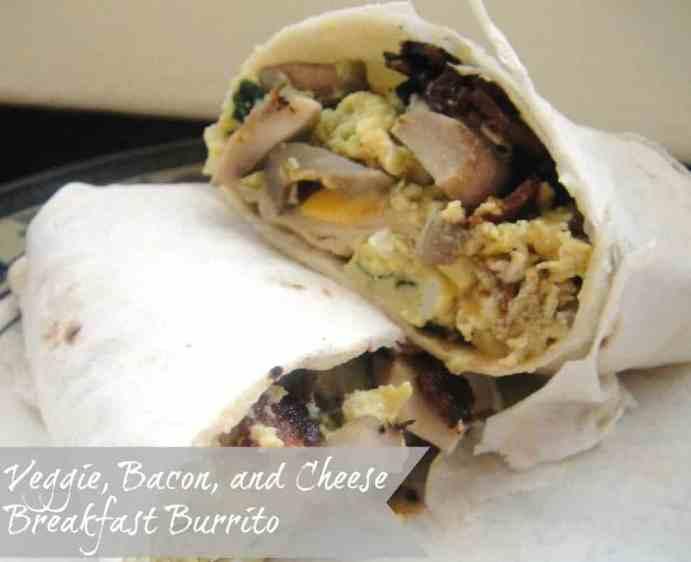 Veggie and Bacon Breakfast Burrito