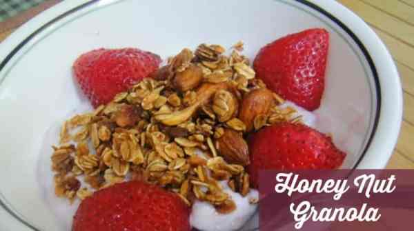 Honey Nut Homemade Granola Recipe