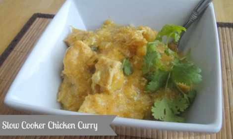 Chicken Curry made in the crockpot. #slowcooker #crockpot #healthycrockpot