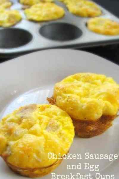 Chicken Sausage and Egg Breakfast Cups