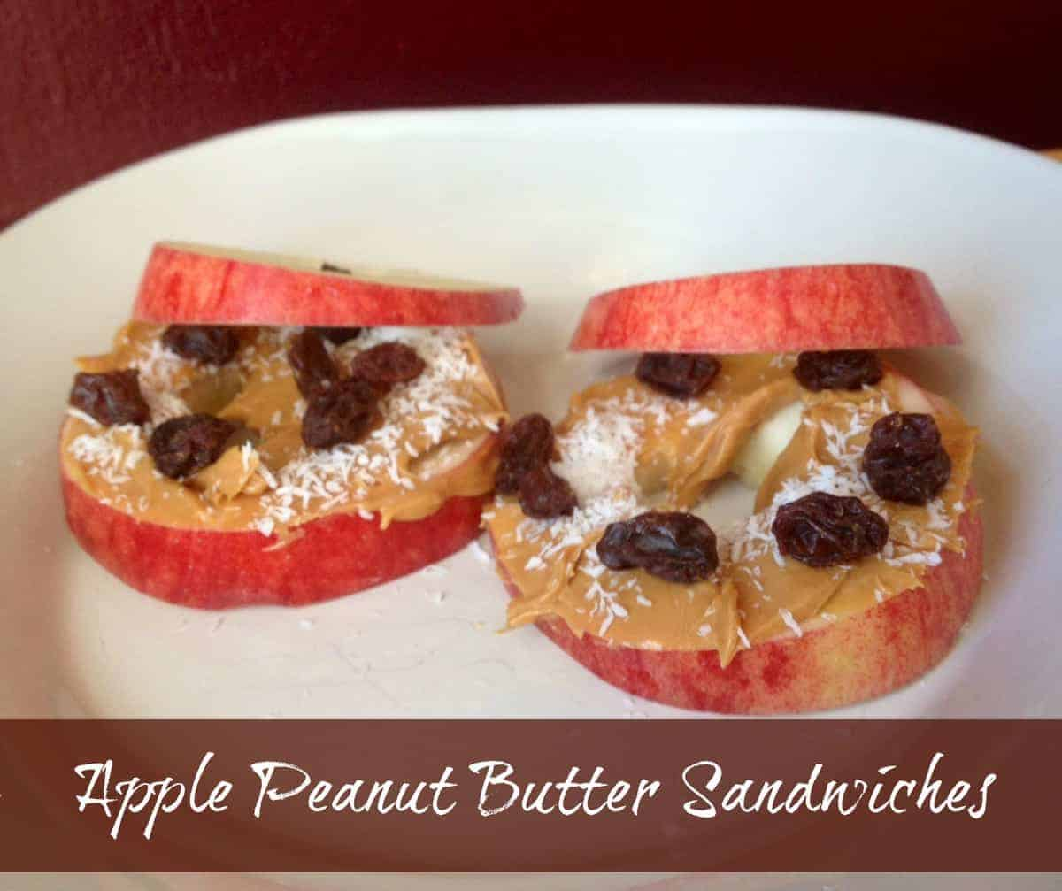 Afterschool Snack Apple Peanut Butter Sandwiches My Kids Love These Afternoon Snacks