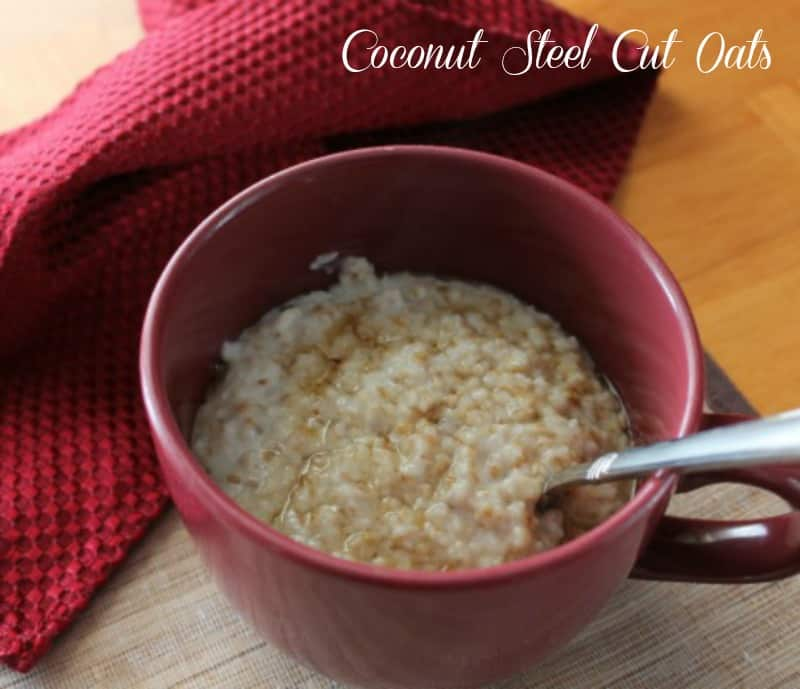 Clean Eating Coconut Steel Cut Oats