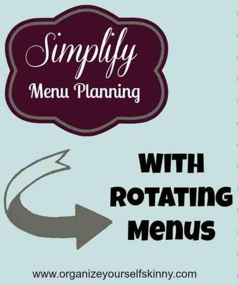 How to creating a rotating menu plan