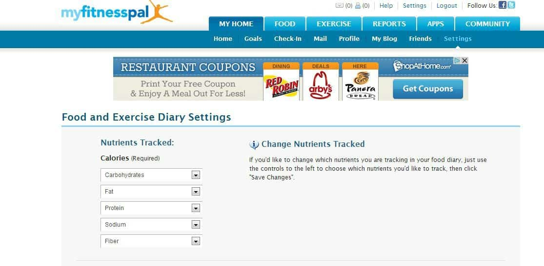 how to use my fitness pal to figure out nutritional information in