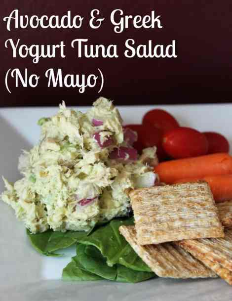 Avocado and greek yogurt tuna salad recipe. NO MAYO!