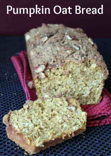 Pumpkin Oat Bread With Walnut Streusel Topping - Organize ...