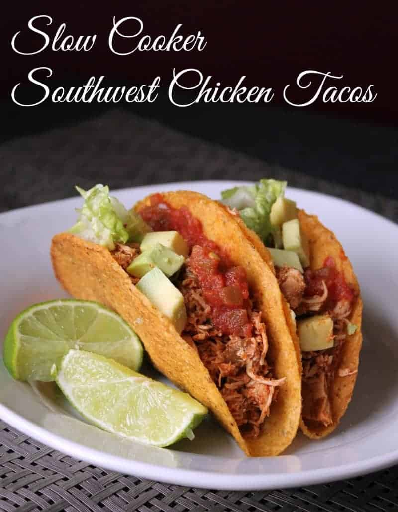 Slow cooker southwest chicken tacos 317 calories 8 weight watchers points plus