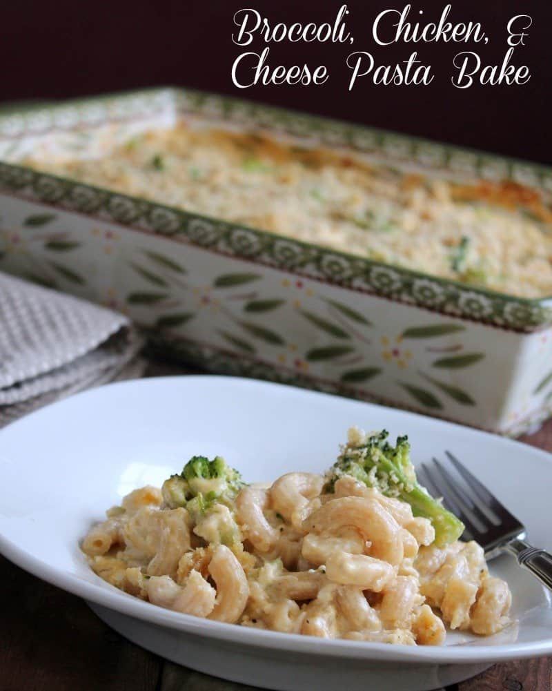 Broccoli, Chicken, and Cheese Pasta Bake 259 calories and 7 weight watchers points plus