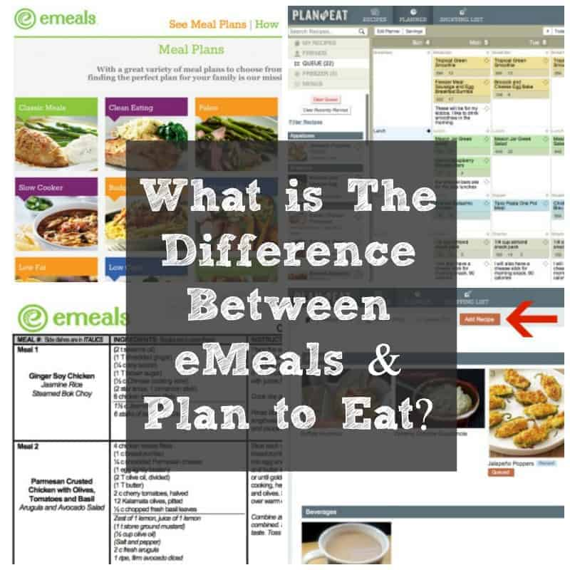 What is the Difference Between Plan to Eat and Emeals?