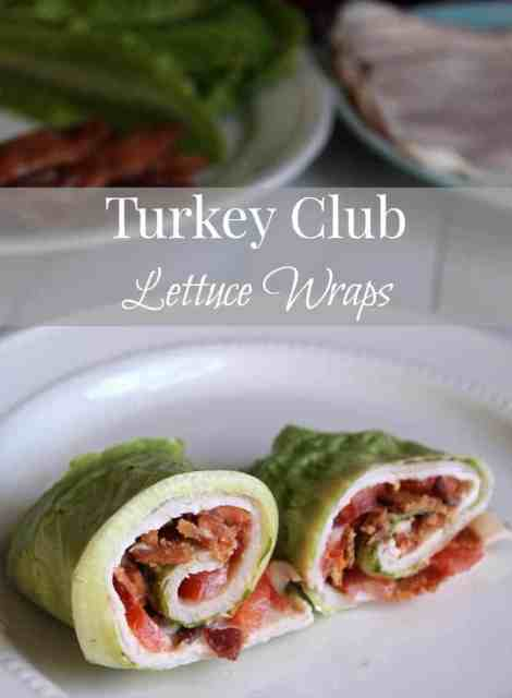 Turkey Club Lettuce Wraps Low Carb BLT 143 calories and 4 weight watchers points plus