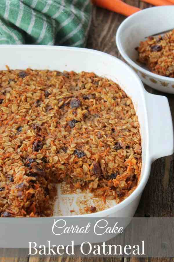Carrot Cake Baked Oatmeal Recipe 238 calories 6 weight watchers points plus