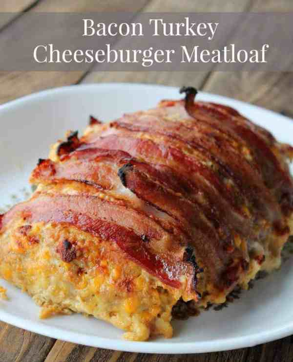 Bacon Turkey Cheeseburger Meatloaf Recipe 251 calories 7 weight watchers points plus
