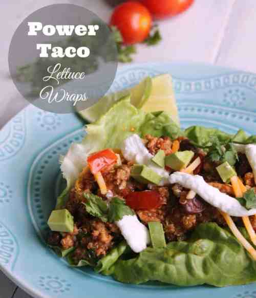 Low Carb Power Taco Lettuce Wraps 190 calories and 4 weight watchers points plus