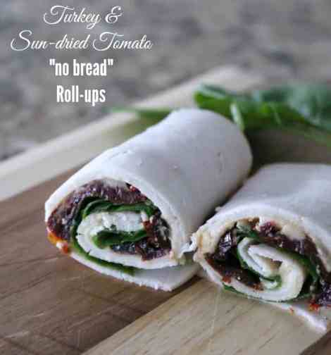 """Turkey and Sun-dried Tomato """"no bread"""" roll ups 201 calories"""