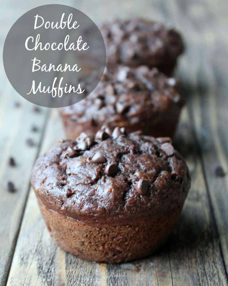 Double Chocolate Banana Muffins 137 calories 4 weight watchers points plus