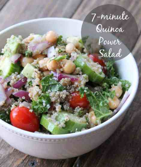 7-minute Quinia Power Salad 385 calories