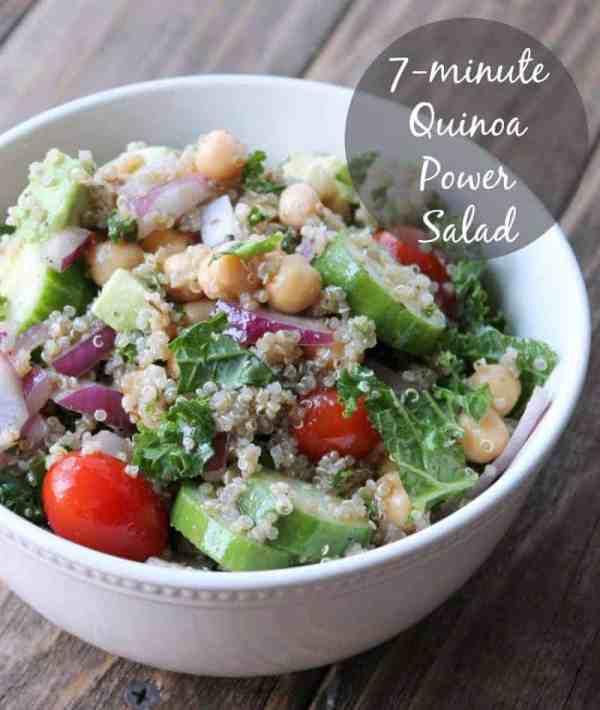 7-minute Quinia Power Salad 385 calories