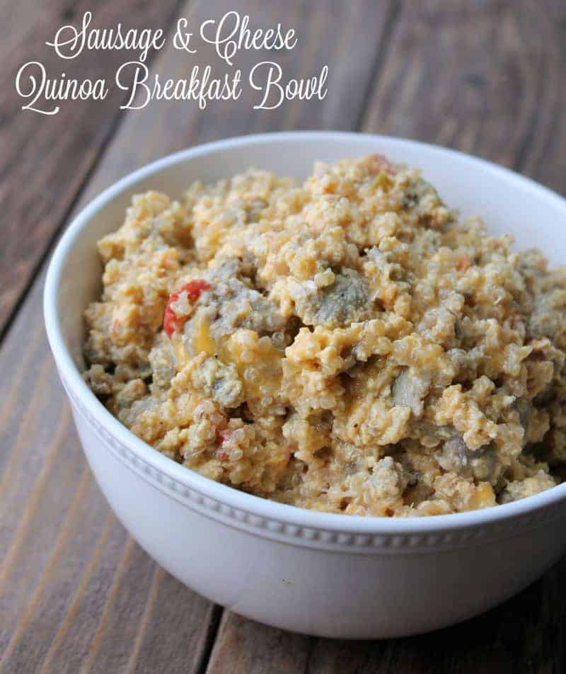 Sausage and Cheese Quinoa Breakfast Bowl 378 calories