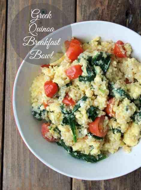 Greek Quinoa Breakfast Bowl