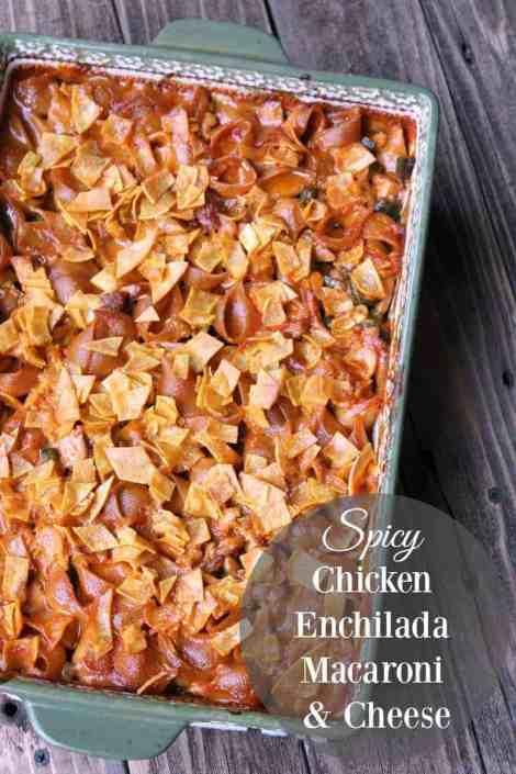 Chicken Enchilada Macaroni and Cheese