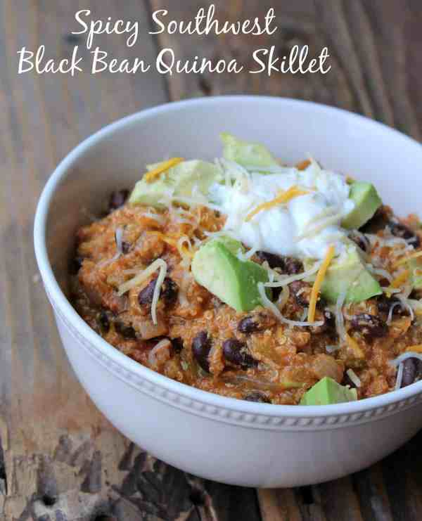 Spicy Southwest Black Bean Quinoa Skillet