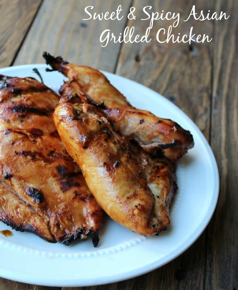 Sweet and Spicy Asian Grilled Chicken