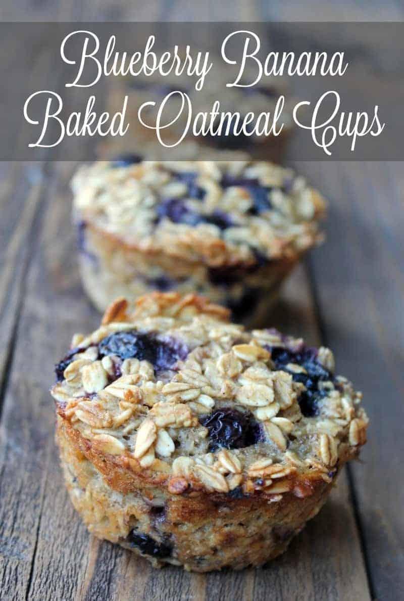 Blueberry Banana Baked Oatmeal Cups