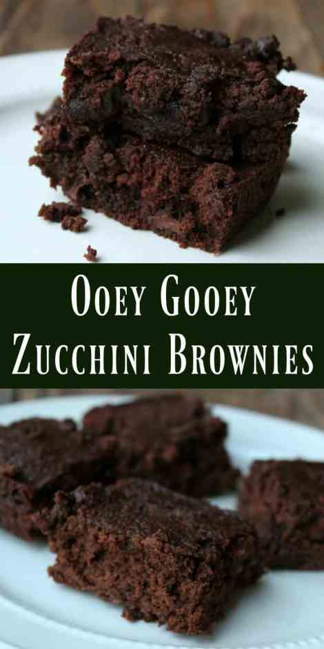 Zucchini brownies that are so delicious and rich you would never guess there's vegetables hidden in them!