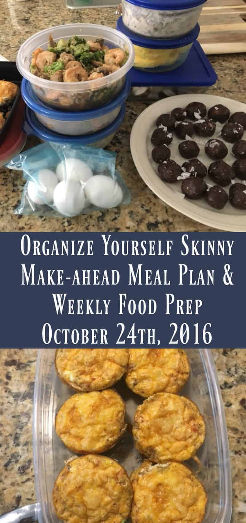 Make-ahead Meal Plan and Weekly Food Prep {October 16th, 2016}
