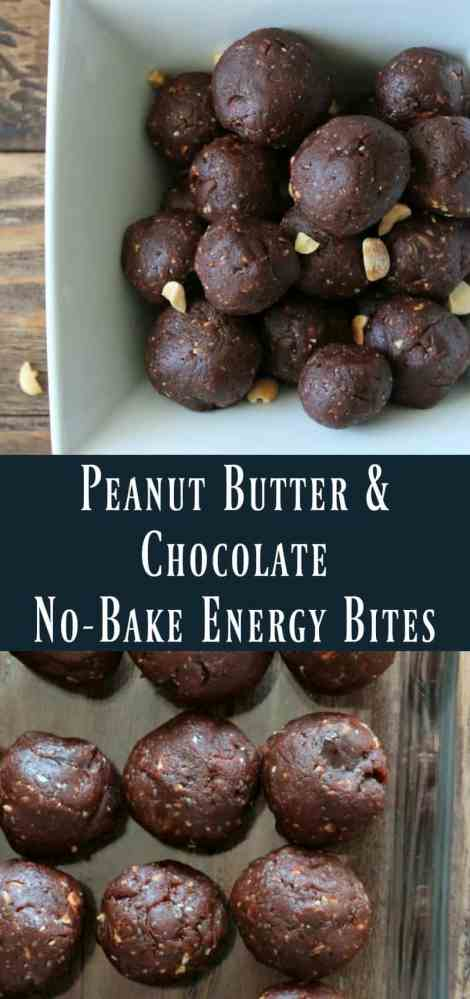 No-bake Peanut Butter and Chocolate Energy Bite Recipe