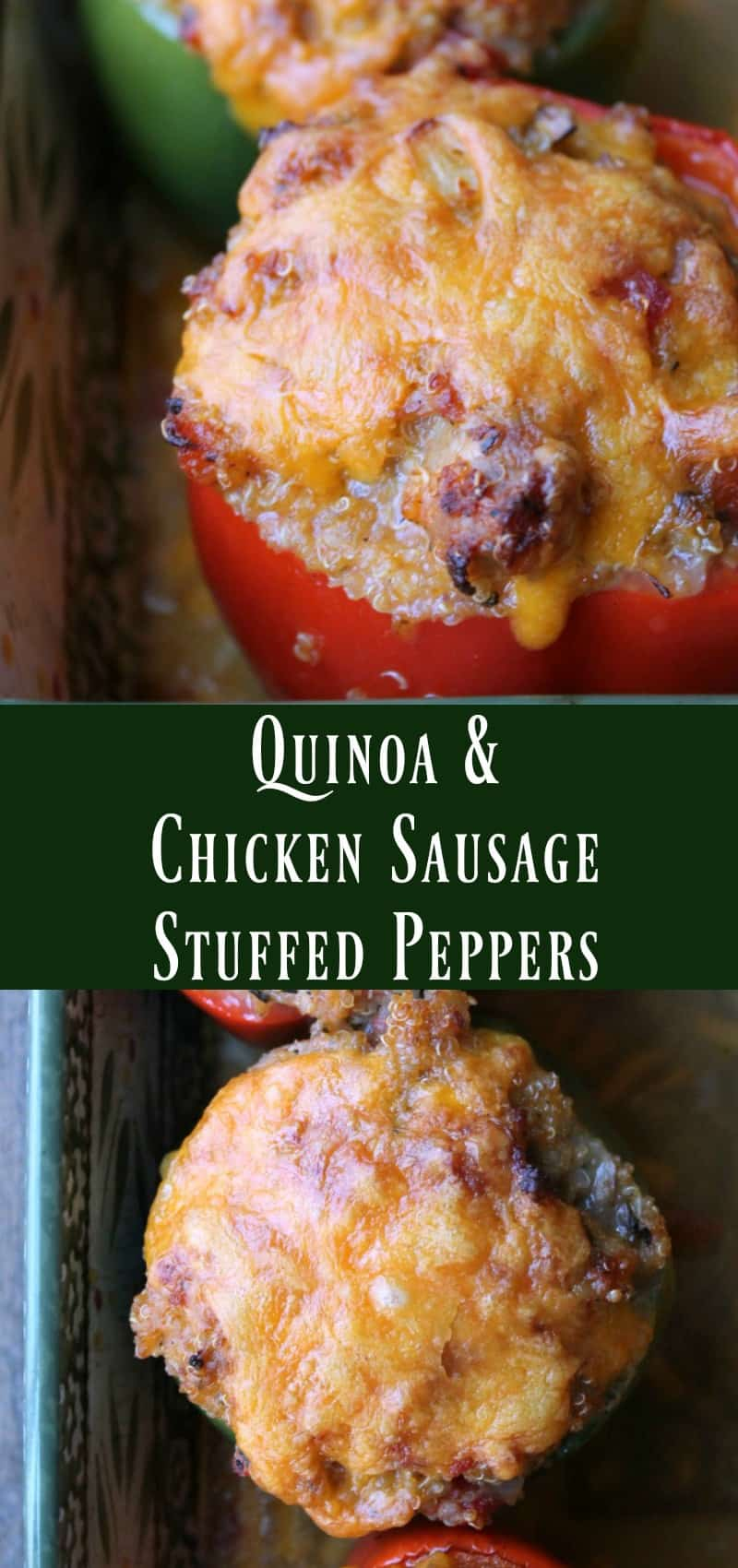 stuffed peppers with quinoa and sausage