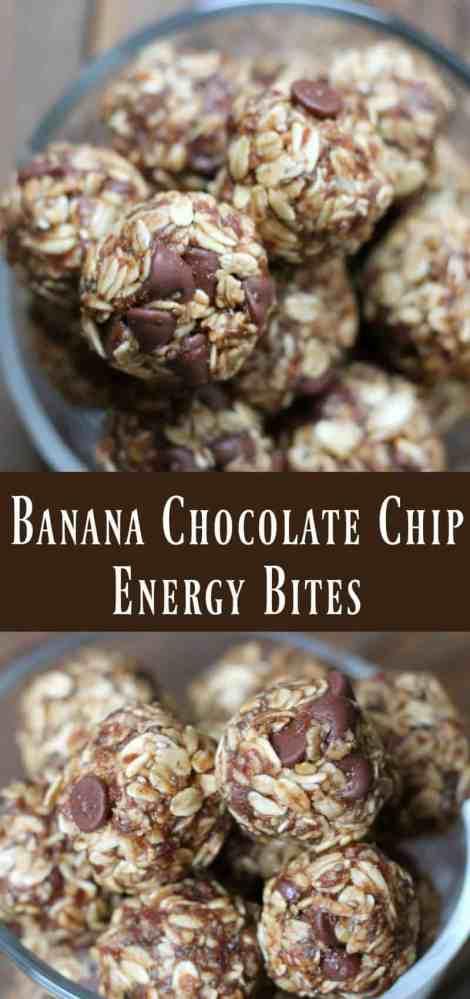 Banana Chocolate Chip Energy Bites