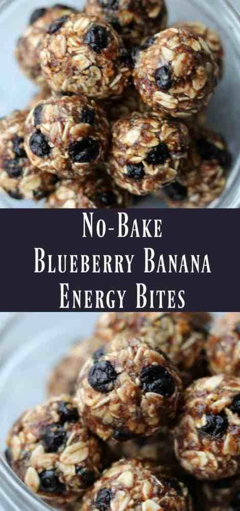 Healthy No-bake Blueberry Banana Energy Bites