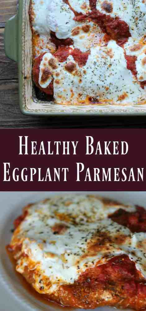 Healthy baked eggplant parmesan recipe