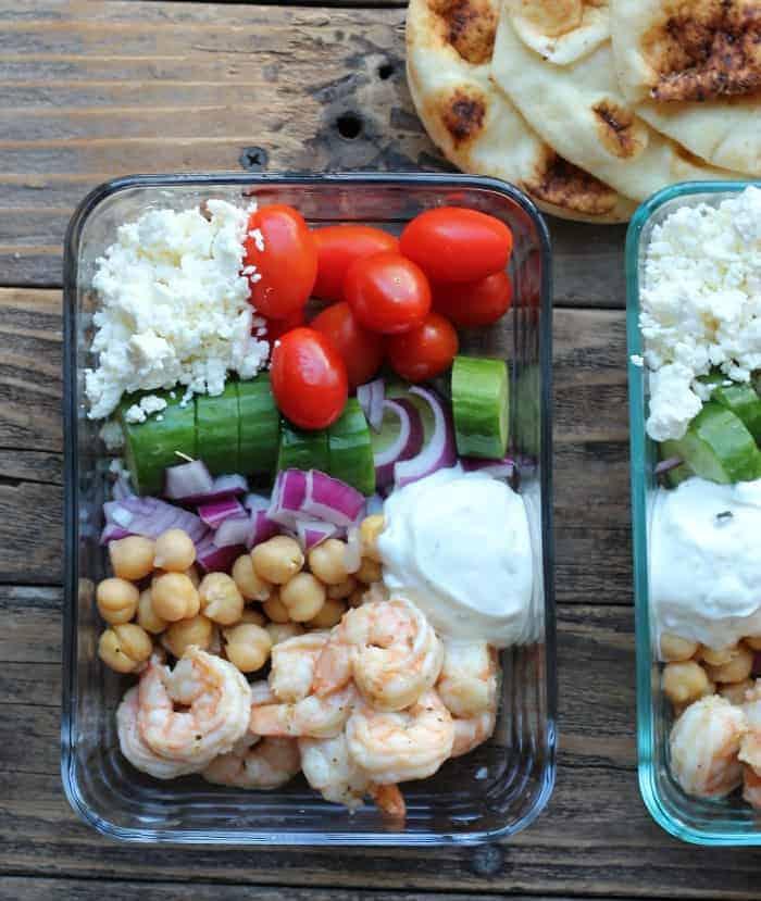 Make Ahead Greek Shrimp Meal Prep Bowls Organize Yourself Skinny