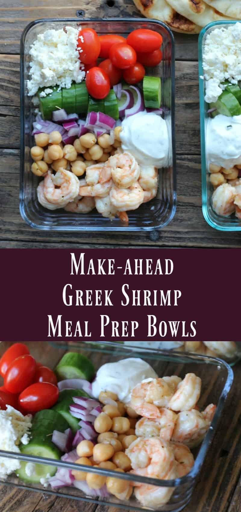 Make-ahead Greek Shrimp Meal Prep Bowls