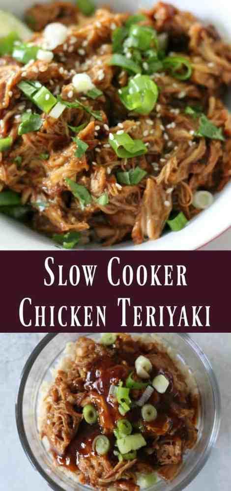 Healthy Slow Cooker Chicken Teriyaki Recipe
