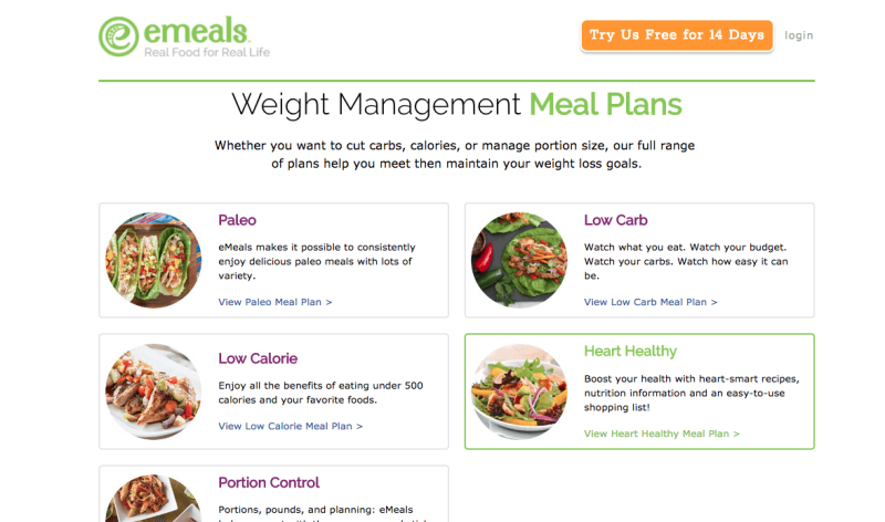 emeal meal plans to lose weight