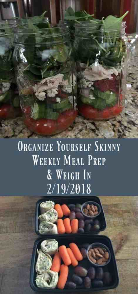 Weekly Meal Prep & Weigh In