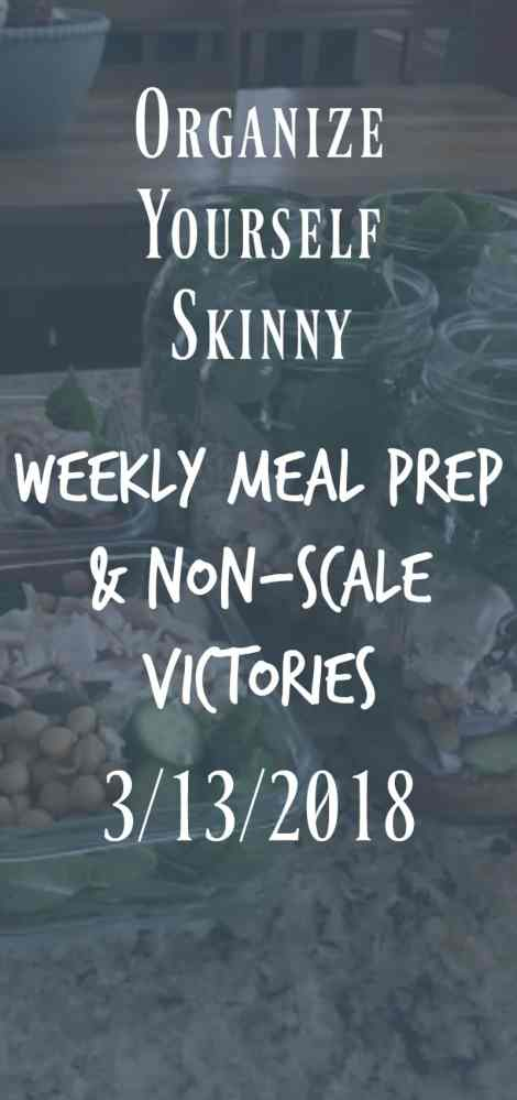 Weekly Meal Prep and Non-scale Victories