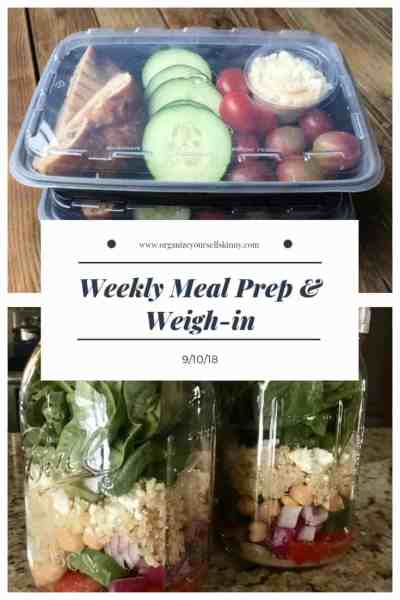 Weekly Meal Prep & Weigh-in {September 10th, 2011}