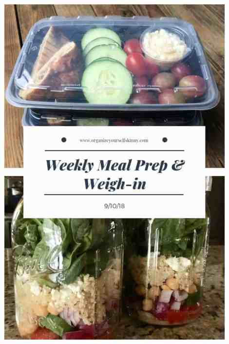 Weekly Meal Prep & Weigh-in