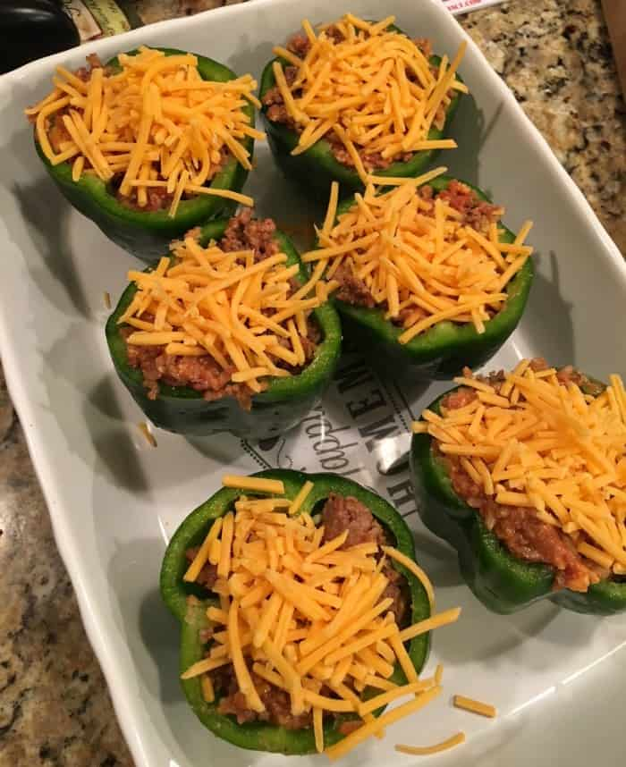 Stuffed peppers Cheeseburger-style
