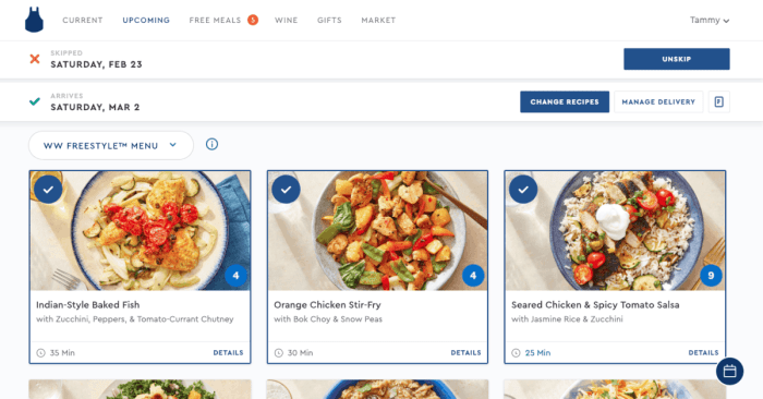 weight watchers meal delivery