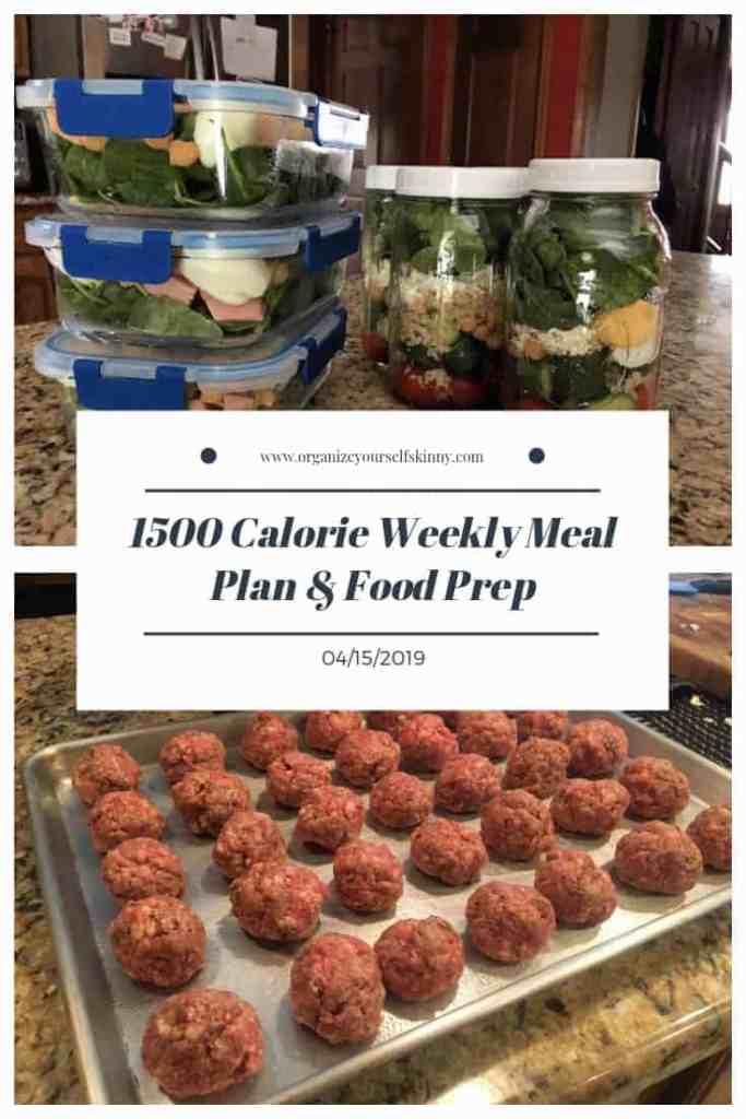 1500 Calorie Weekly Meal Plan & Food Prep {April 15th, 2019